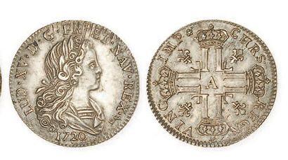IDEM. Petit louis d'argent, 1720 Paris. G...