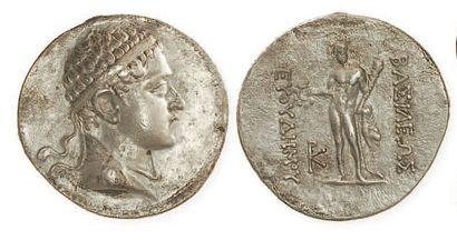 BACTRIANE, Euthydèmes II (190 - 171). Tétradrachme...