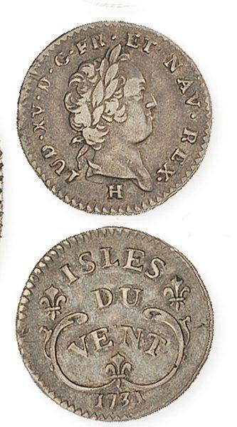 IDEM. 12 sols des Isles du Vent, 1731H. ...