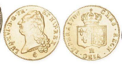 IDEM. Double louis au buste nu, 1786 La Rochelle....