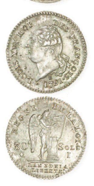 IDEM. 30 sols, 1791 Limoges, an 3. G 39....