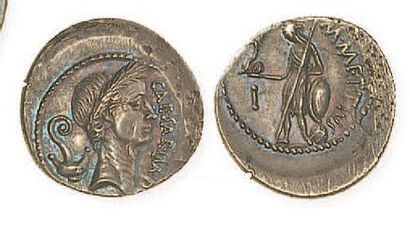 REPUBLIQUE, Jules César (100 - 44). Denier...