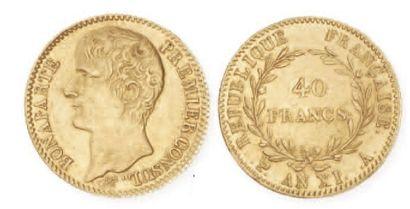 IDEM. 40 francs or Bonaparte premier consul,...