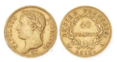 NAPOLEONI (1804 - 1814). 40 francs or 1812...