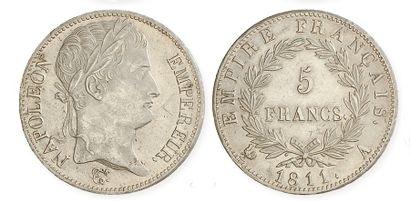 IDEM. 5 francs tête laurée, 1811 A. G 584....
