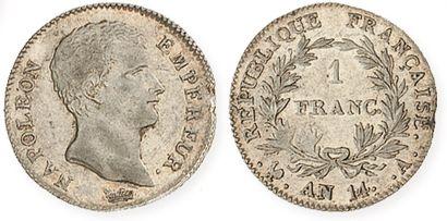 IDEM. 1 franc tête nue, an 14 A. G 443. TTB...