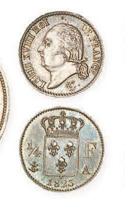 IDEM. Quart de franc, 1823 A. G352. Supe...