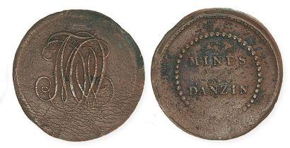 IDEM. Lot de 3 monnaies particulières en...