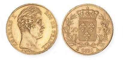 IDEM. 20 francs or, 1820 A. G 1029. TTB