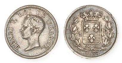 IDEM. Quart de franc et demi franc 1833....