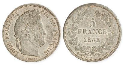 LOUIS PHILIPPE (1830 - 1848). 5 francs tête...