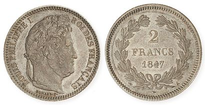 IDEM. 2 francs 1847 A. G 520. Superbe