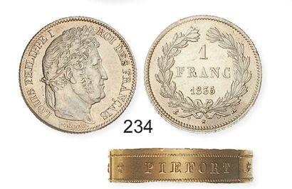 IDEM. 1 franc 1835 A. G 535. Presque superbe...