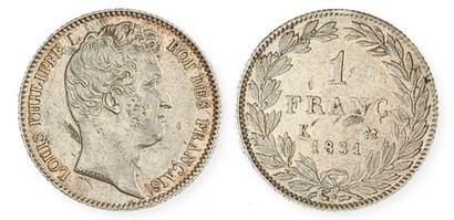 IDEM. 1 franc, tête nue, 1831 Bordeaux. G...