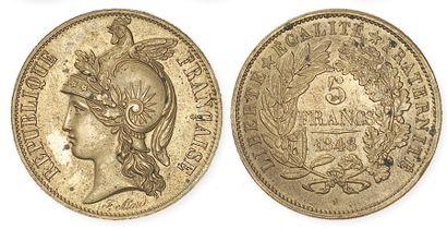 IIe REPUBLIQUE (1848 - 1852) Concours monétaire...