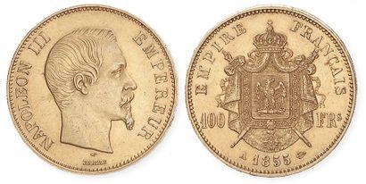 NAPOLEON III (1852- 1870). 100 francs, tête...
