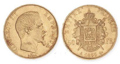 IDEM. 50francs tête nue, 1855 A. G 1111....