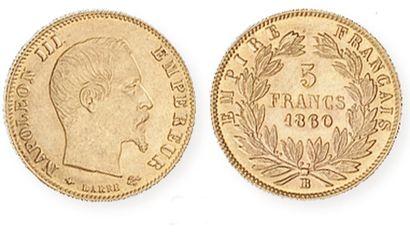 IDEM. 5 f or tête nue, grand module, 1860...
