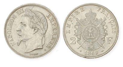 IDEM. 2 francs laurée, 1869 A. G 527. Voir...