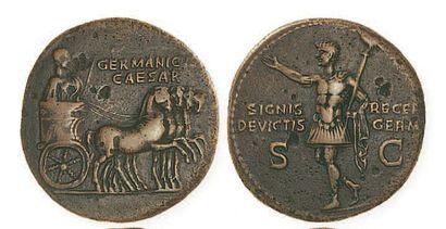 GERMANICUS (mort en19). Dupondius au Germanicus...