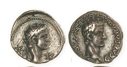 CALIGULA et AUGUSTE (37- 41). Denier à la...
