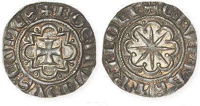 IDEM. BohémondVI (1268 - 1274). Lot de 2 gros à l'astre rayonnant. Les 2, superbe...