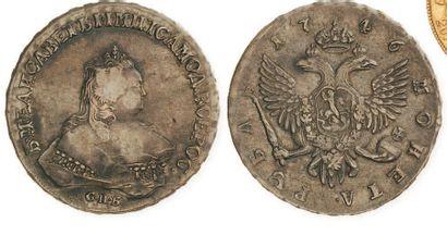 RUSSIE, Elizabeth (1741-1761) Rouble 1746...