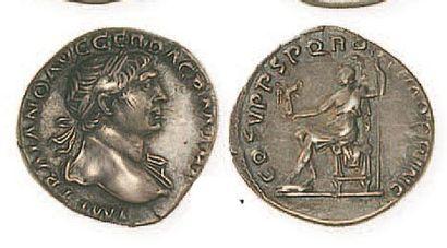 TRAJAN (98- 117). Denier. R /Rome assise...