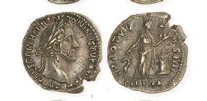 ANTONIN LE PIEUX (138- 161). Denier à la...