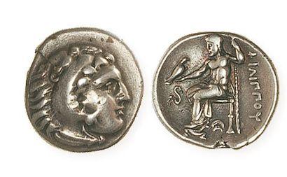 MACEDOINE, Philippe III (323 - 316). Drachme à la tête d'Héraclès coiffé de la léontée...