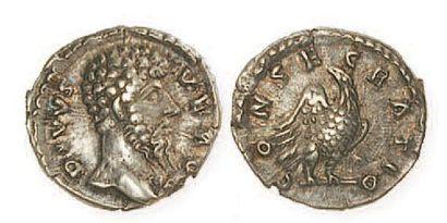 LUCIUS VERUS (mort en 169). Denier posthume...