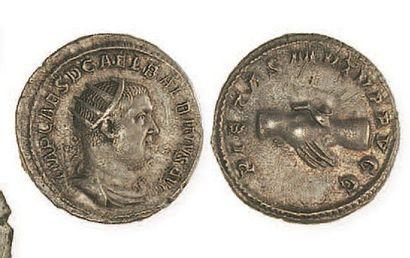 IDEM. Antoninien aux deux mains jointes. C 17. Superbe