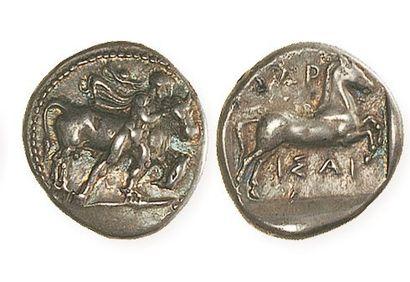 THESSALIE, Larissa (430 - 400). Drachme au...