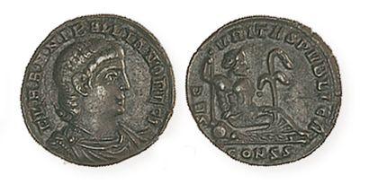 HANNIBALLIEN (335- 337). Petit bronze frappé à Constantinople, à l'Euphrate allongé....