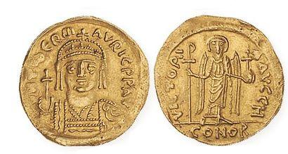 BYZANCE, Maurice Tibère (582 - 602). Solidus...