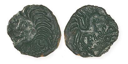 GAULE, Ambiani -Bellovaques. Bronze type Bracquemont. LT8584. DT 509. TTB