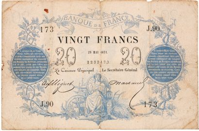 20F. Type 1871 du 29 mai 1871. FA46/2. Voir...
