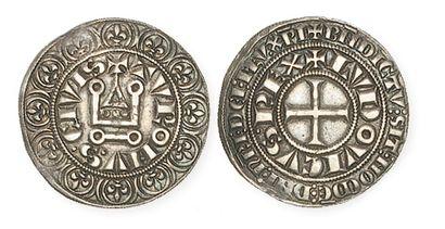 LOUIS IX (1250 - 1270). Gros tournois. Dy190D....