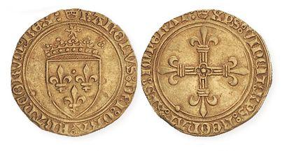CHARLES VIII (1483 - 1498). Ecu d'or au soleil...