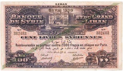 SYRIE. Banque de Syrie et du Grand Liban....
