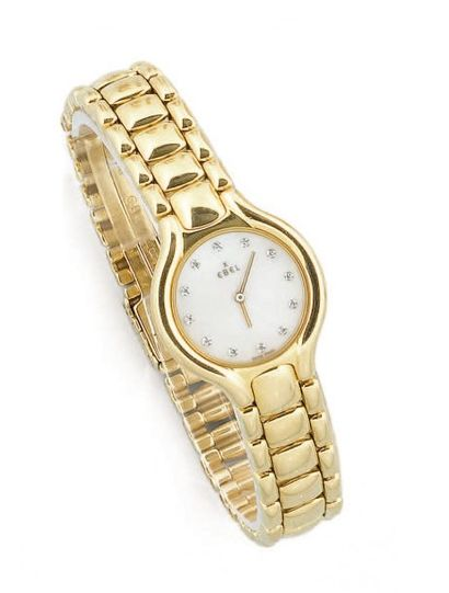 EBEL Montre bracelet de dame or jaune, cadran...
