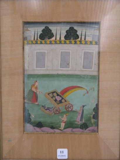 Inde du nord XIXe siècle. Episode de la vie...