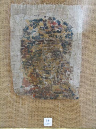 Tissu Copte, fragment d'un portrait de femme...
