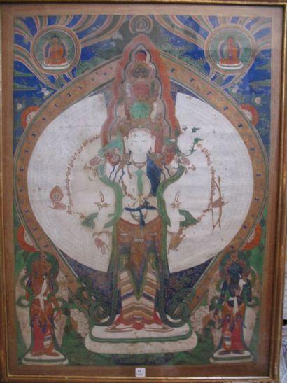 Tanka, gouache sur toile, Avalokitesvara...