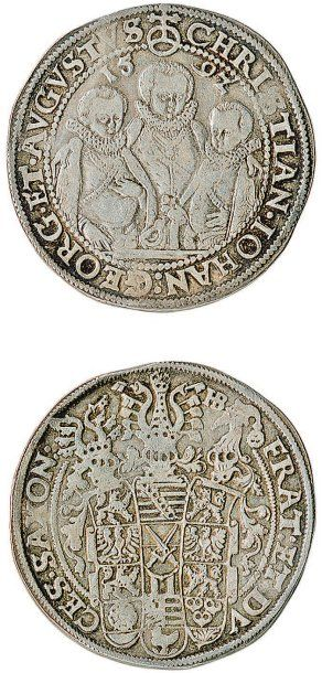 ALLEMAGNE. Saxe, Christian II, Jean George et Auguste (1591-1611).