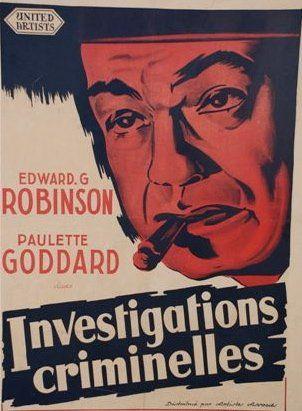 INVESTIGATIONS CRIMINELLES, 1953 avec E....