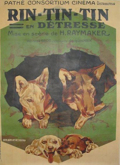 3 Affiches avec le chien RIN-TIN-TIN : -...