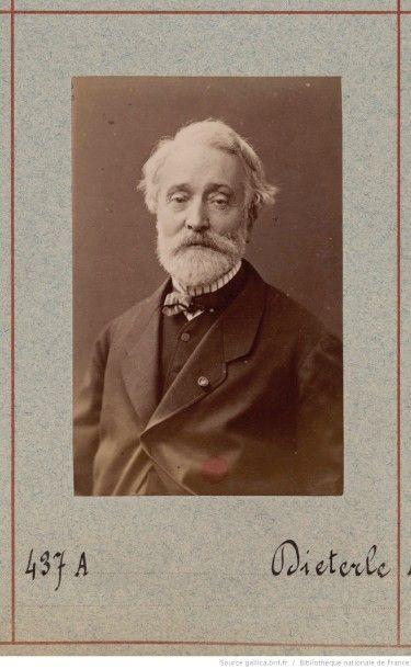 Jules DIETERLE Chambre d'apparat, 1851 Aquarelle et rehauts dorés Signée et datée...