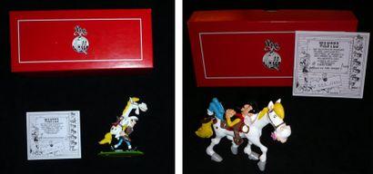MORRIS LUCKY LUKE Lot de 2 figurines. PIXI...
