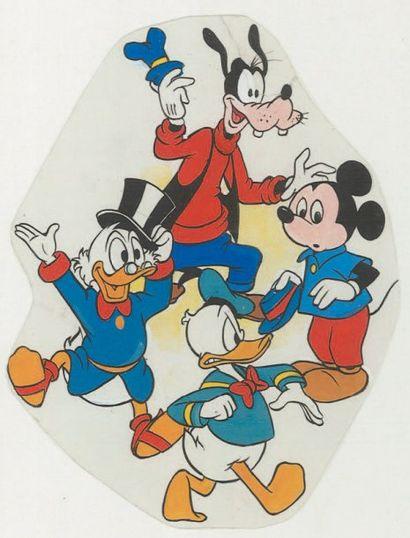 DISNEY Mickey, Goofy, Donald et Picsou. Dessin...